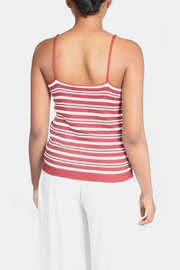 Lumiere Red Knit Striped Top - Other