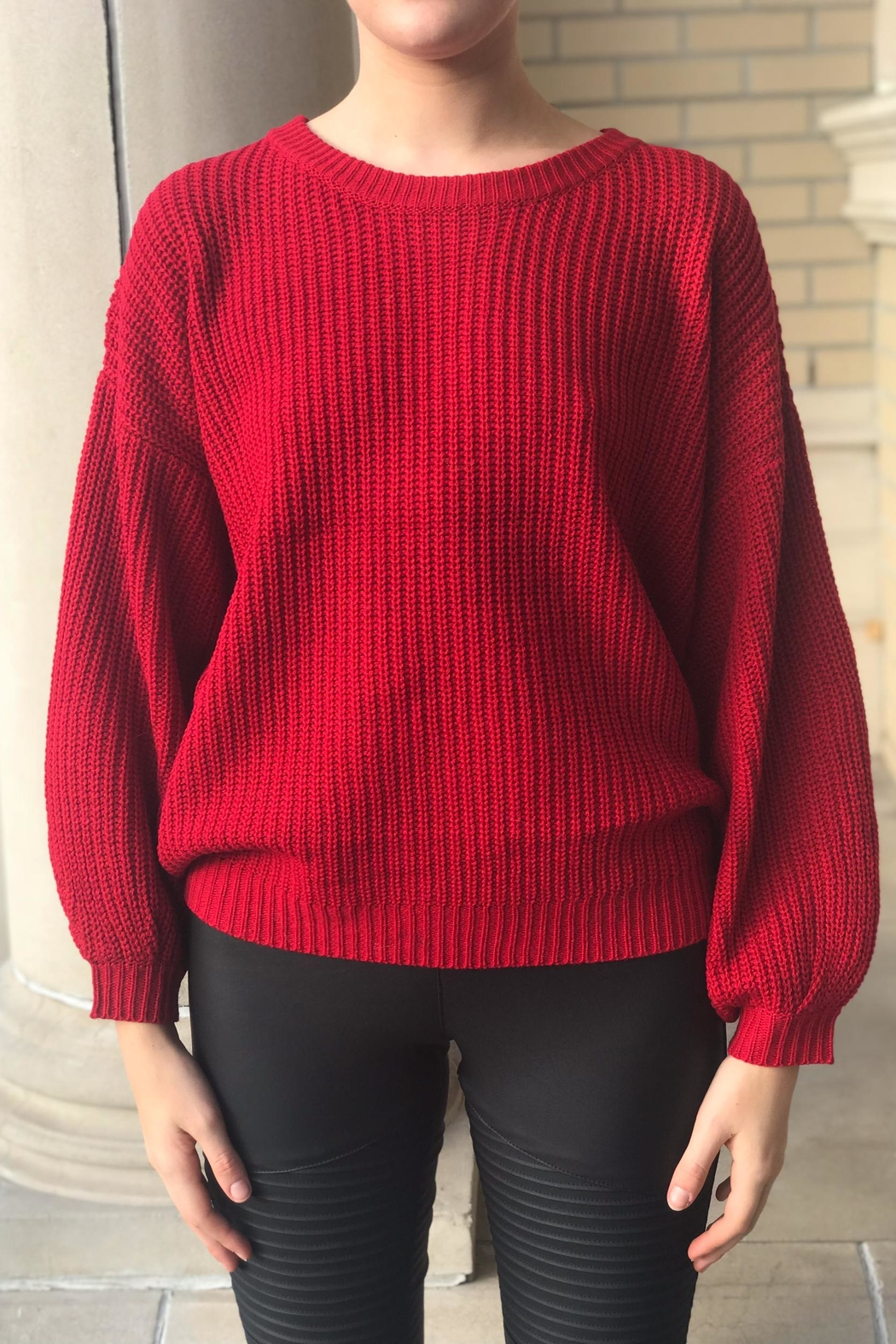 Lumiere Red Knit Sweater from New York City by Dor L'Dor — Shoptiques