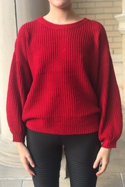 Lumiere Red Knit Sweater - Product Mini Image