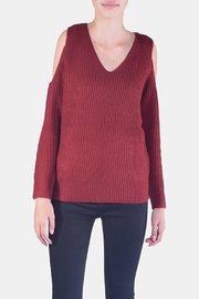 Lumiere Smitten Cold-Shoulder Sweater - Product Mini Image