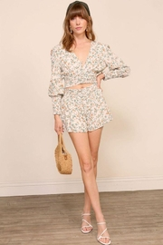 Lumiere Smocking Detail Floral Top - Side cropped