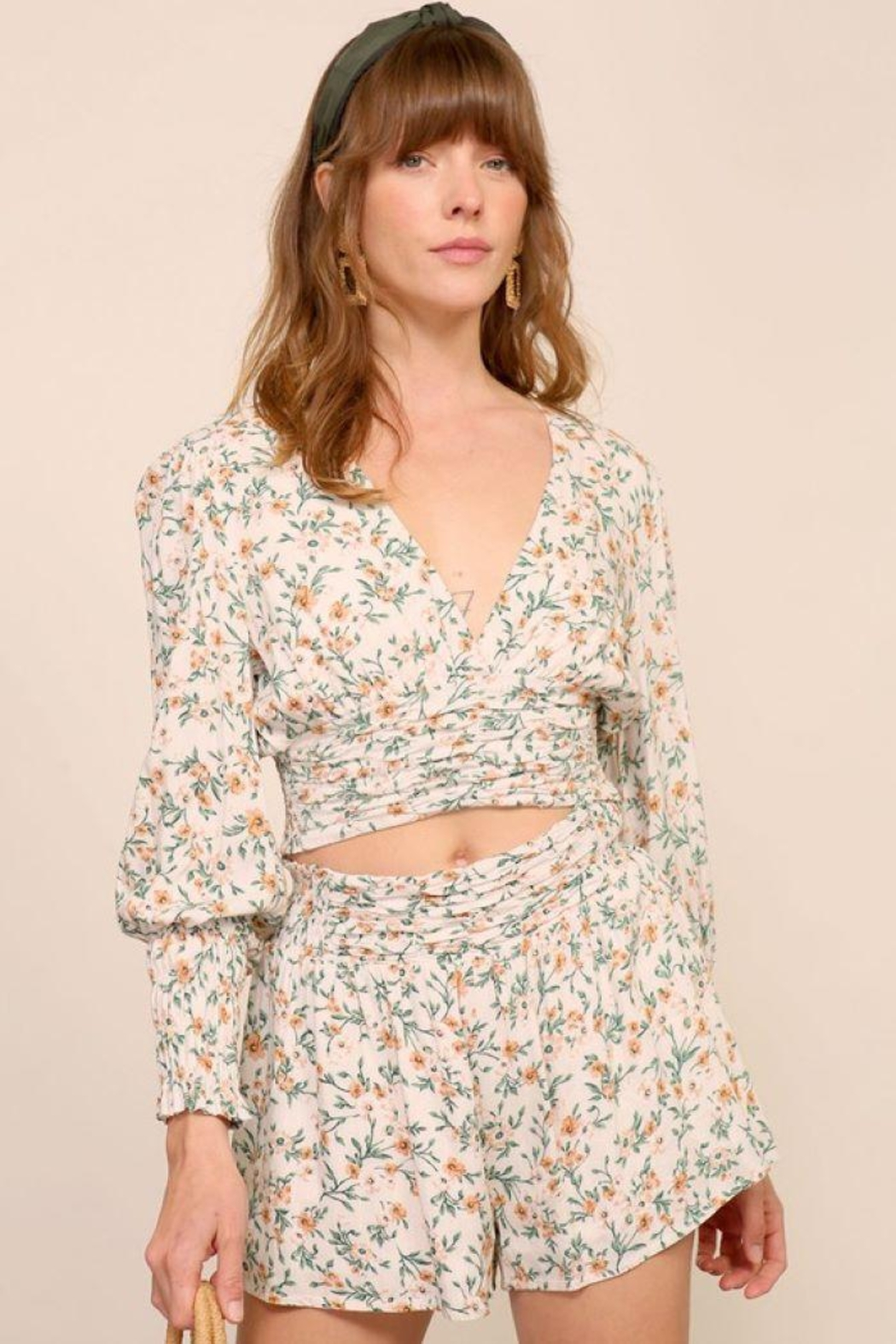 Lumiere Smocking Detail Floral Top - Main Image