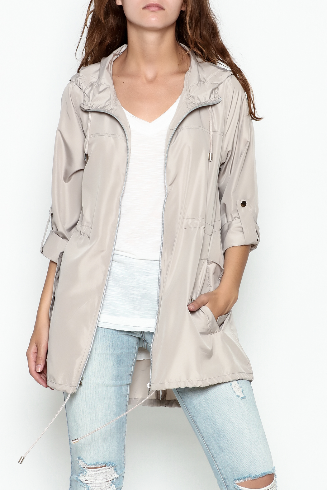 Lumiere Solid Anorak - Front Cropped Image