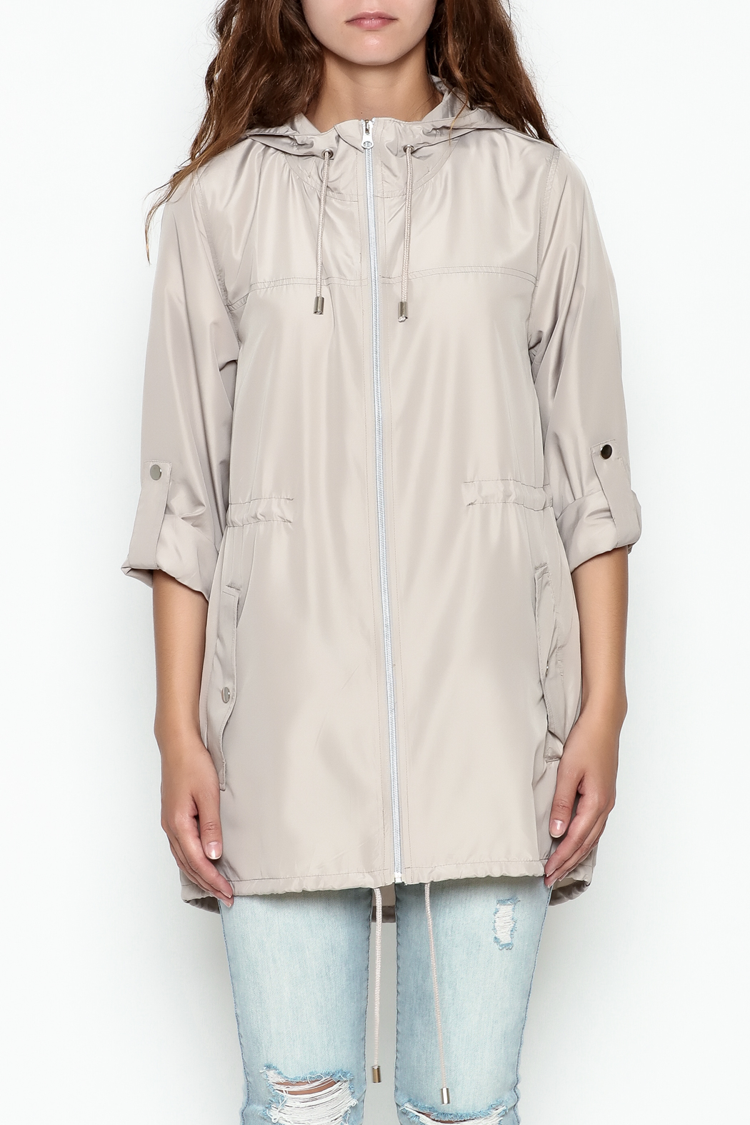 Lumiere Solid Anorak - Front Full Image
