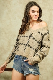 Lumiere Stitch Print Sweater - Front full body
