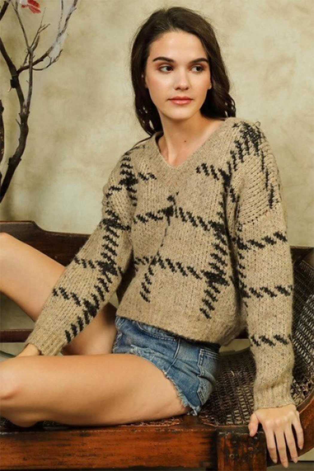 Lumiere Stitch Print Sweater - Main Image