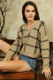 Lumiere Stitch Print Sweater - Product Mini Image