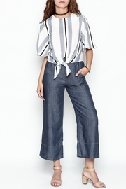 Lumiere Stripe Knot Top - Side cropped