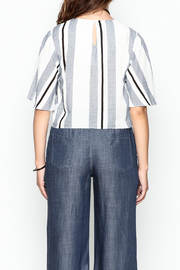Lumiere Stripe Knot Top - Back cropped