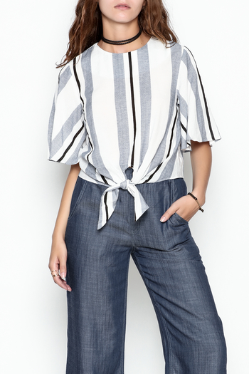 Lumiere Stripe Knot Top - Main Image