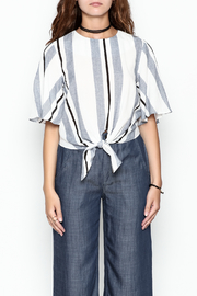 Lumiere Stripe Knot Top - Front full body