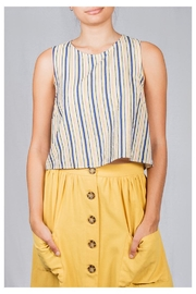 Lumiere Striped Box Top - Front cropped