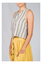 Lumiere Striped Box Top - Front full body
