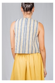 Lumiere Striped Box Top - Side cropped