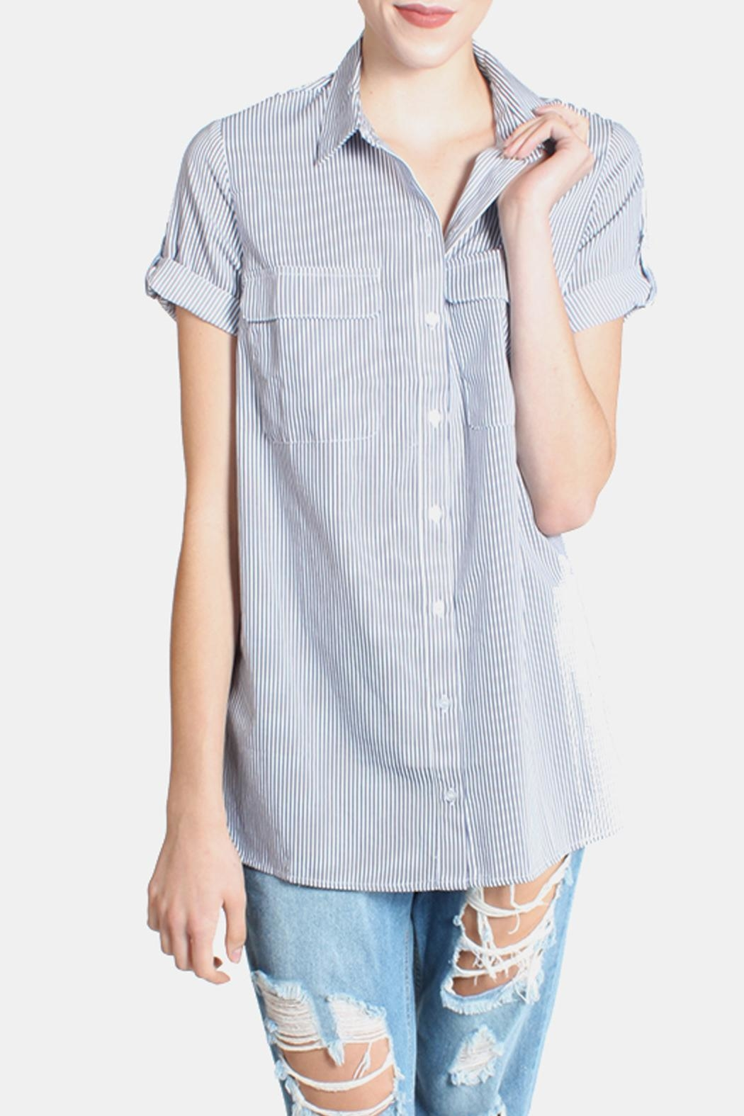 Lumiere Striped Button Down Shirt - Main Image