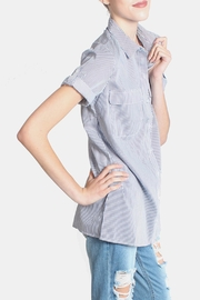 Lumiere Striped Button Down Shirt - Front full body
