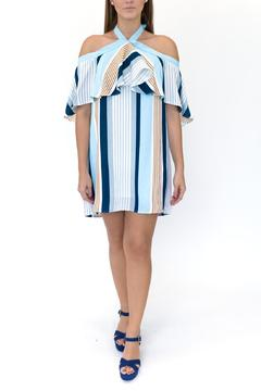 Lumiere Striped Halter Dress - Product List Image