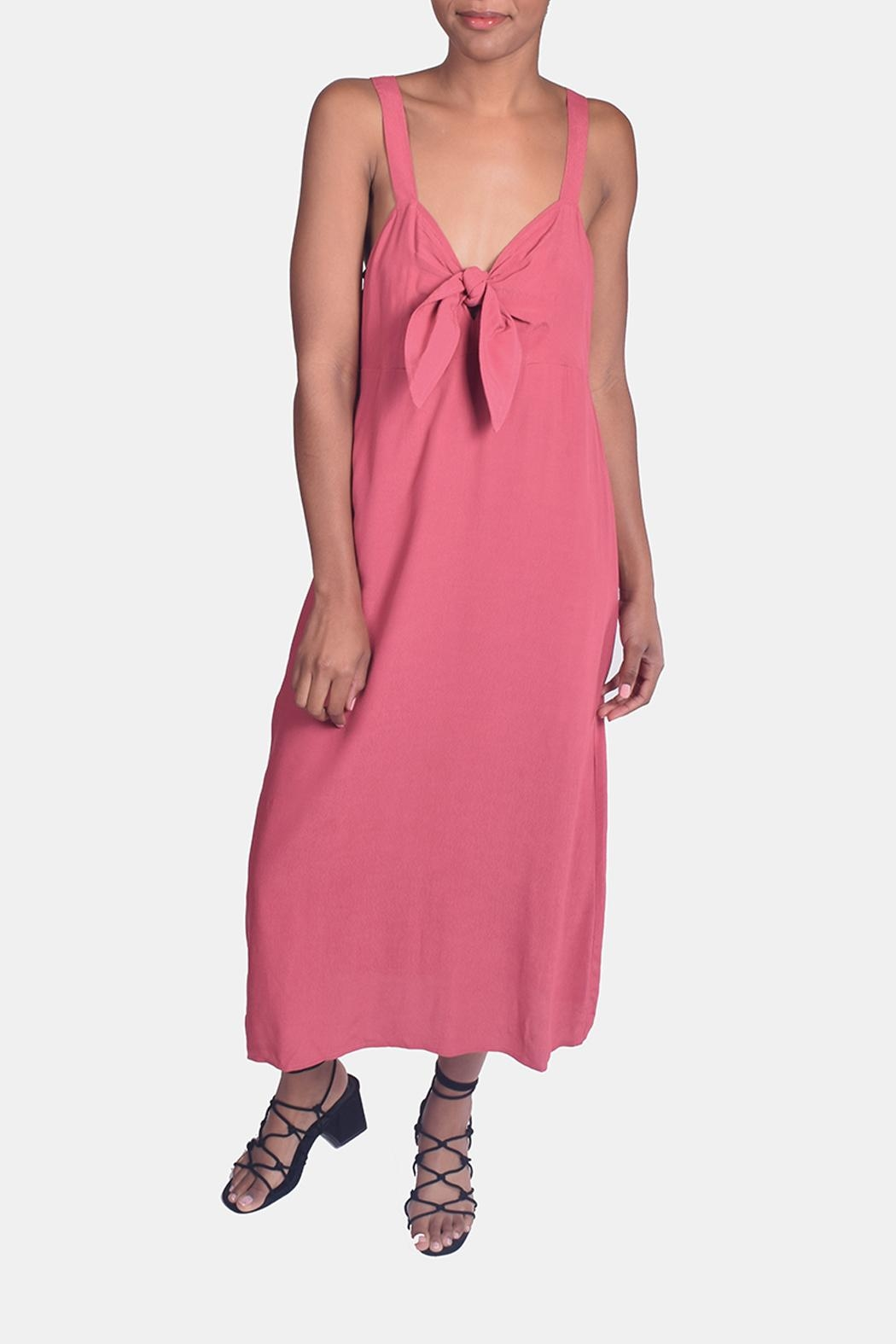 Lumiere Sweetheart Tie Front Dress - Main Image