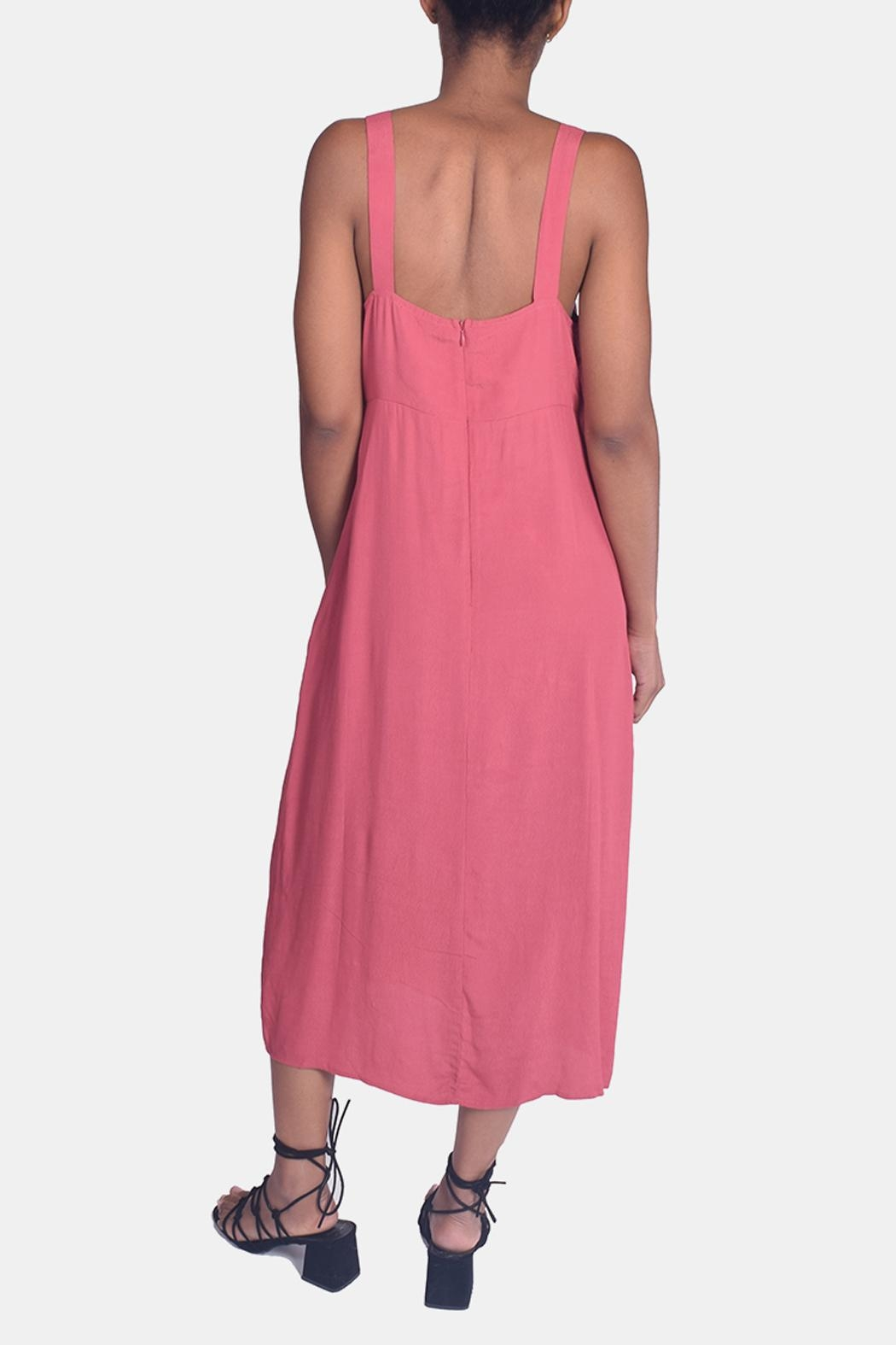 Lumiere Sweetheart Tie Front Dress - Side Cropped Image