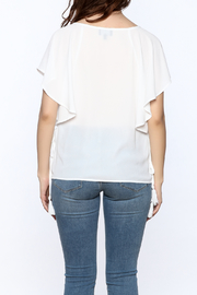 Shoptiques Product: White Tassel Top - Back cropped
