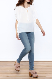 Lumiere White Tassel Top - Front full body