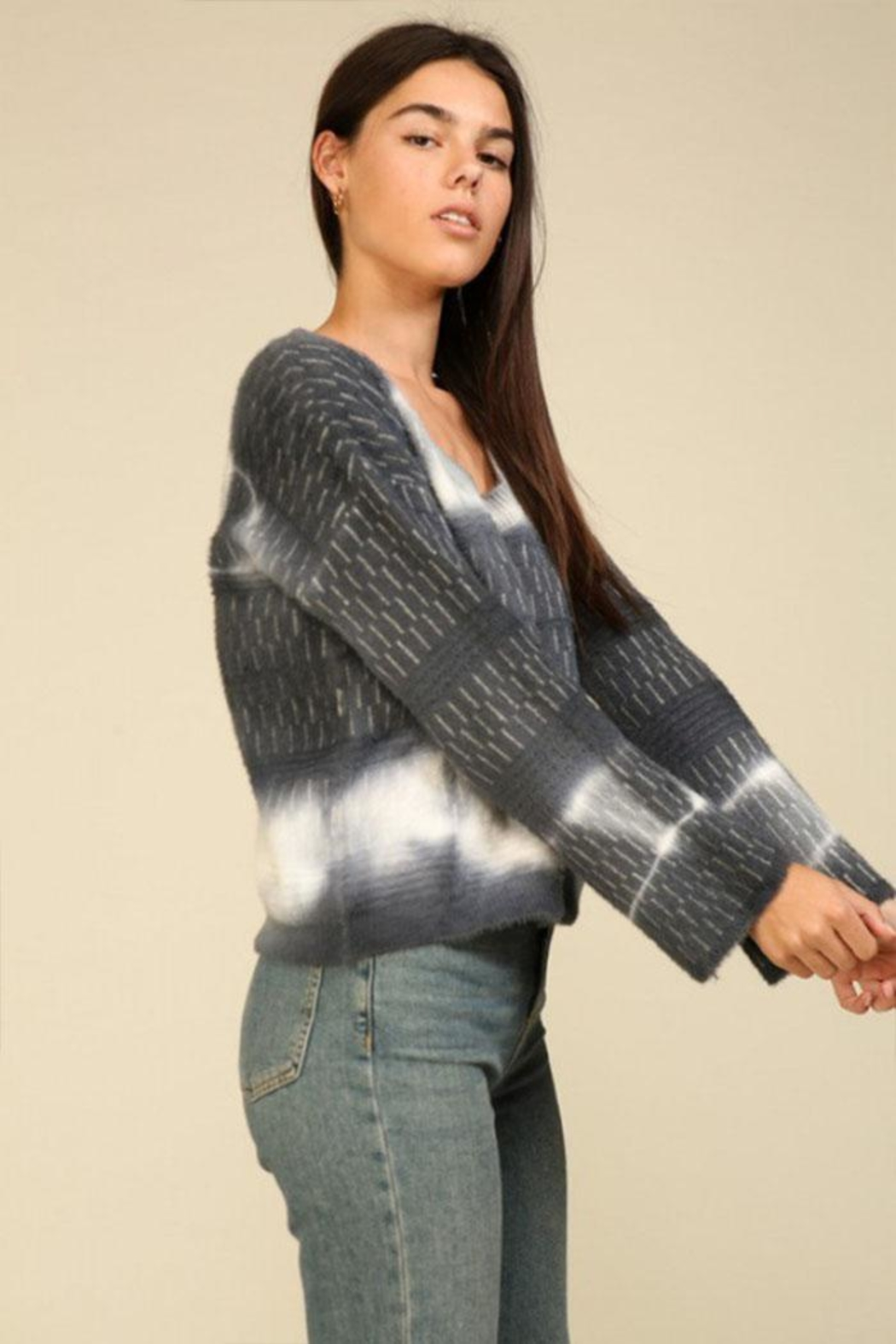 Lumiere Tie Dye Sweater - Back Cropped Image