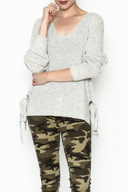 Lumiere Tie Grommet Sweater - Front cropped