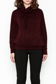 Lumiere Tie Turtleneck Sweater - Front full body