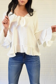 Lumiere Tier Sleeve Blouse - Product Mini Image