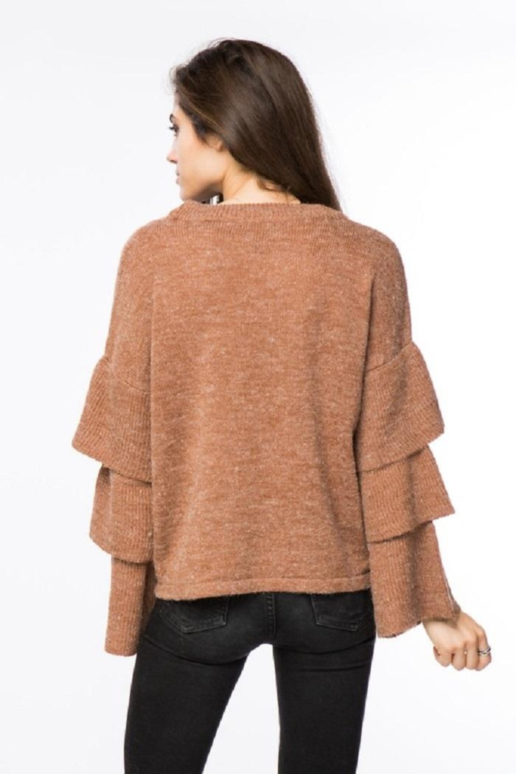Lumiere Tiered Sleeve Sweater - Front Full Image