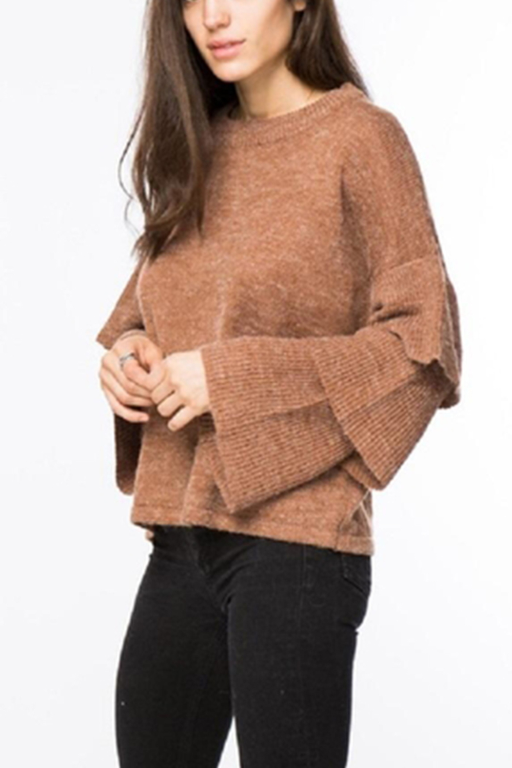 Lumiere Tiered Sleeve Sweater - Main Image