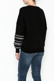 Lumiere Fringe Sleeve Sweater - Back cropped