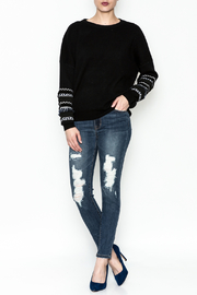 Lumiere Fringe Sleeve Sweater - Front full body
