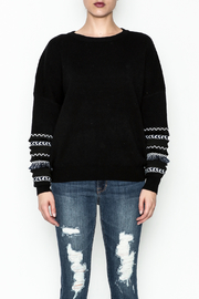 Lumiere Fringe Sleeve Sweater - Front cropped