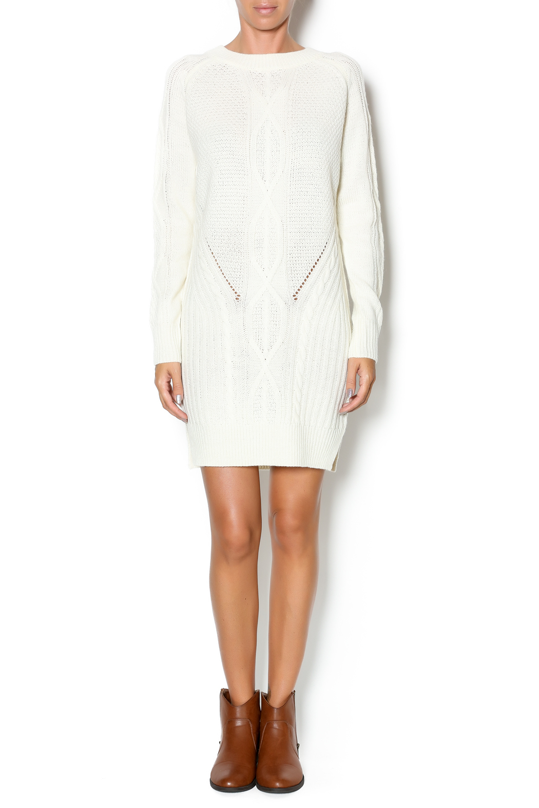 Lumiere Winter White Sweater Dress from New York City by Dor L'Dor ...