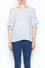 Lumiere Twist Check Top - Front full body