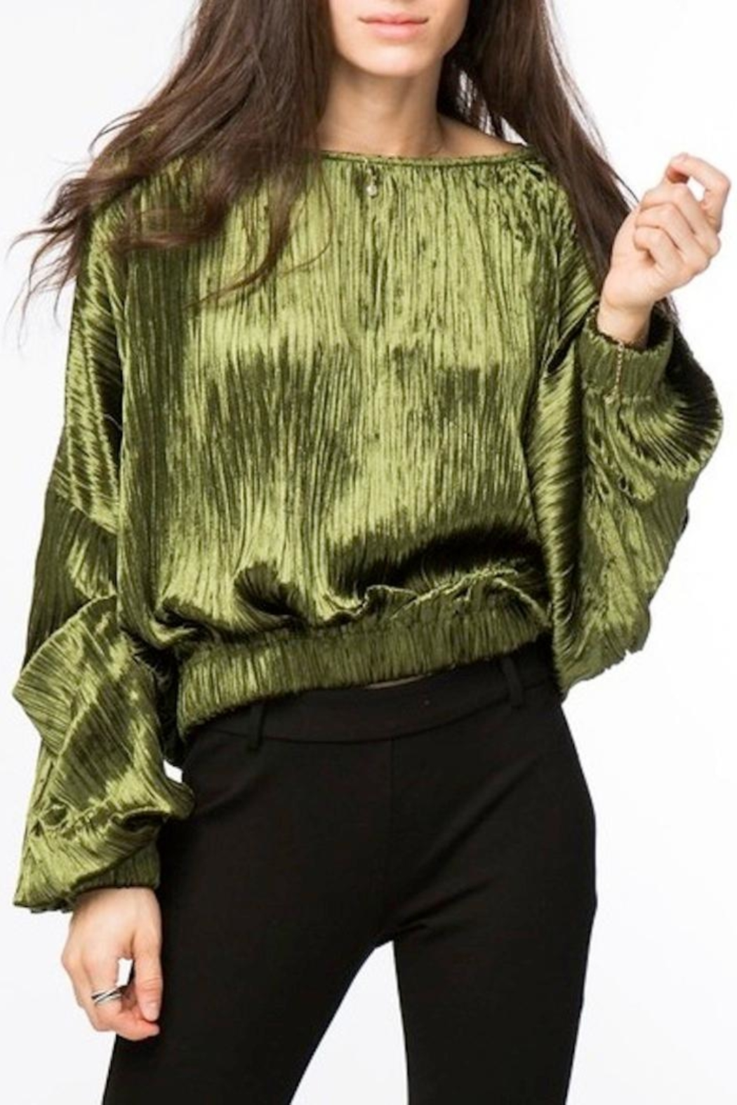 Lumiere Velvet Top - Front Cropped Image