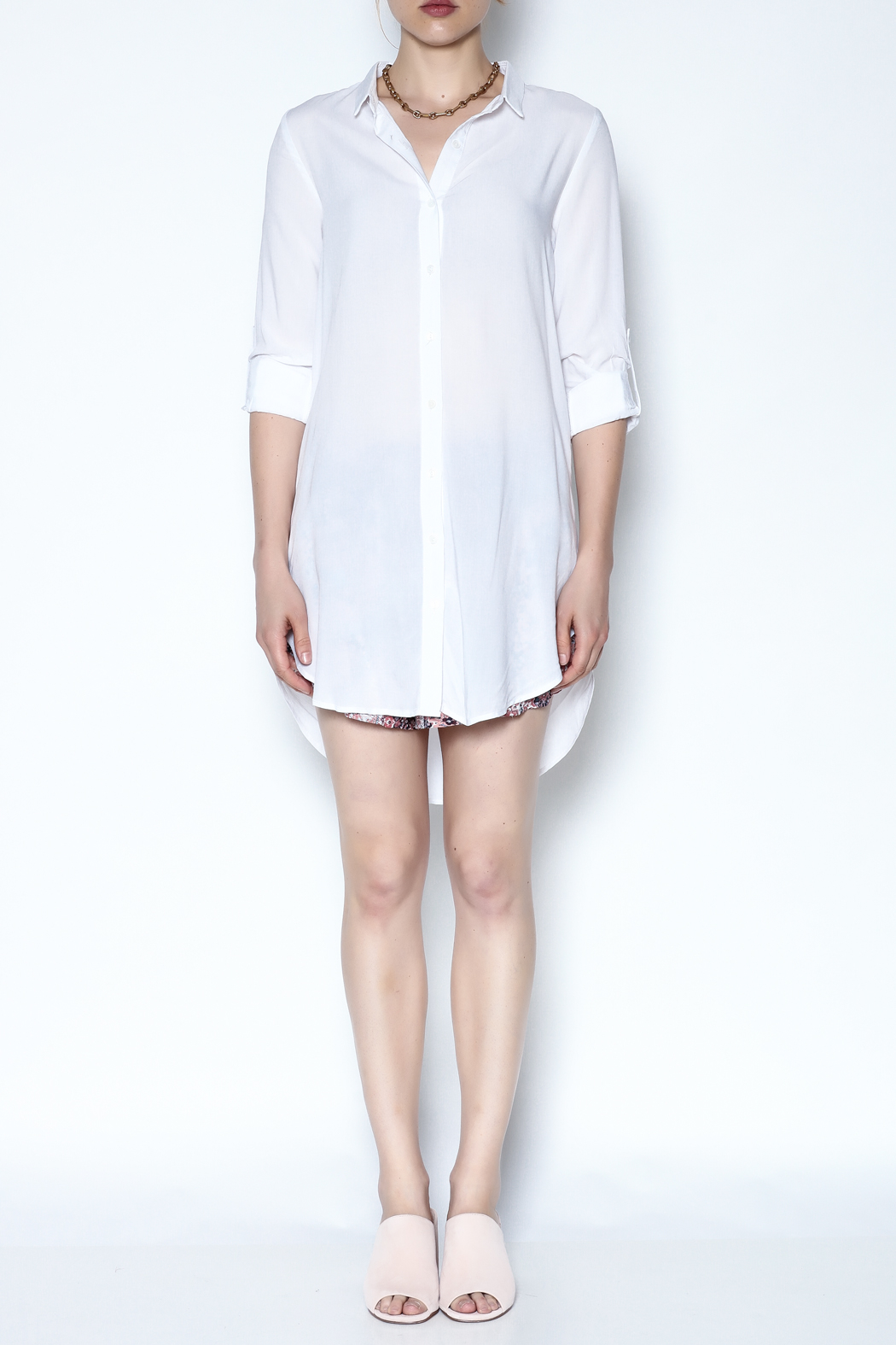 Lumiere White Breezy Tunic - Front Full Image