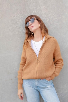 Lumiere Zip-Front Ribbed Sweater - Alternate List Image
