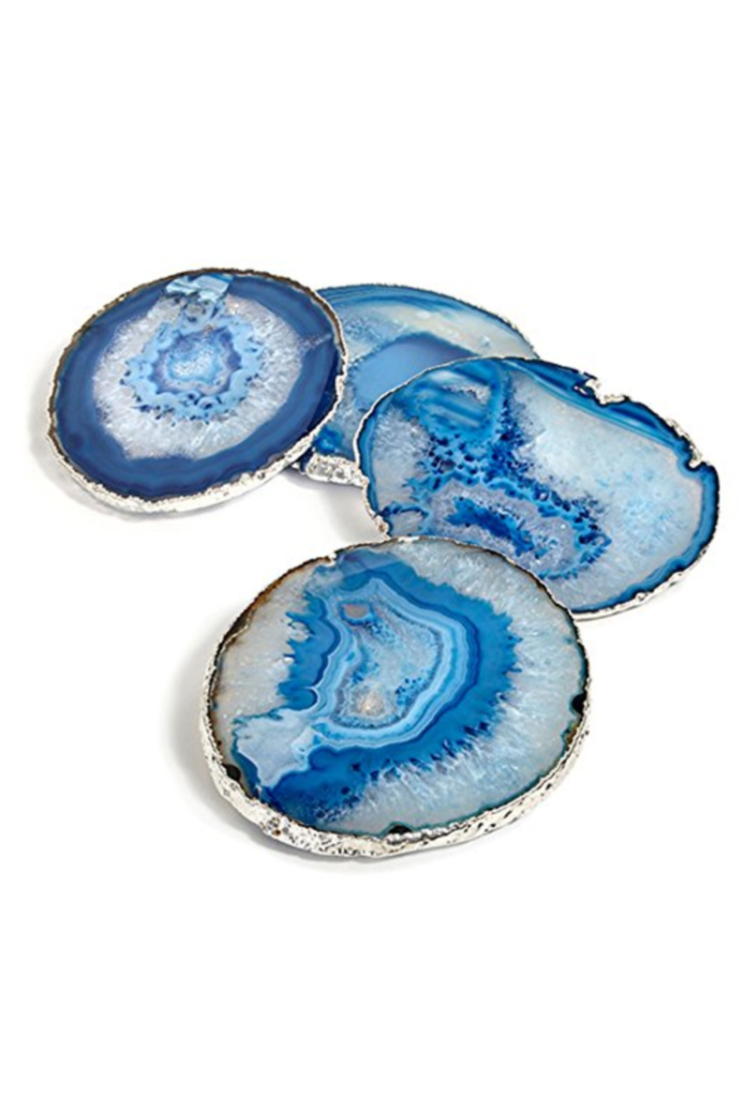 The Birds Nest LUMINO COASTERS - AZURE/SILVER (S/4) - Main Image