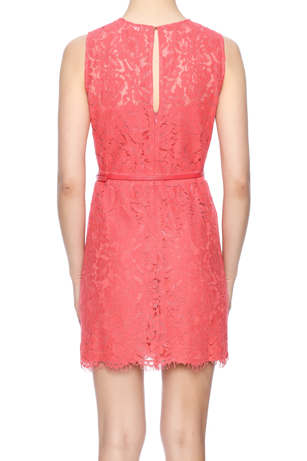 f41235adae1 LUNA Coral Lace Dress from Michigan by Sparrow Boutique — Shoptiques