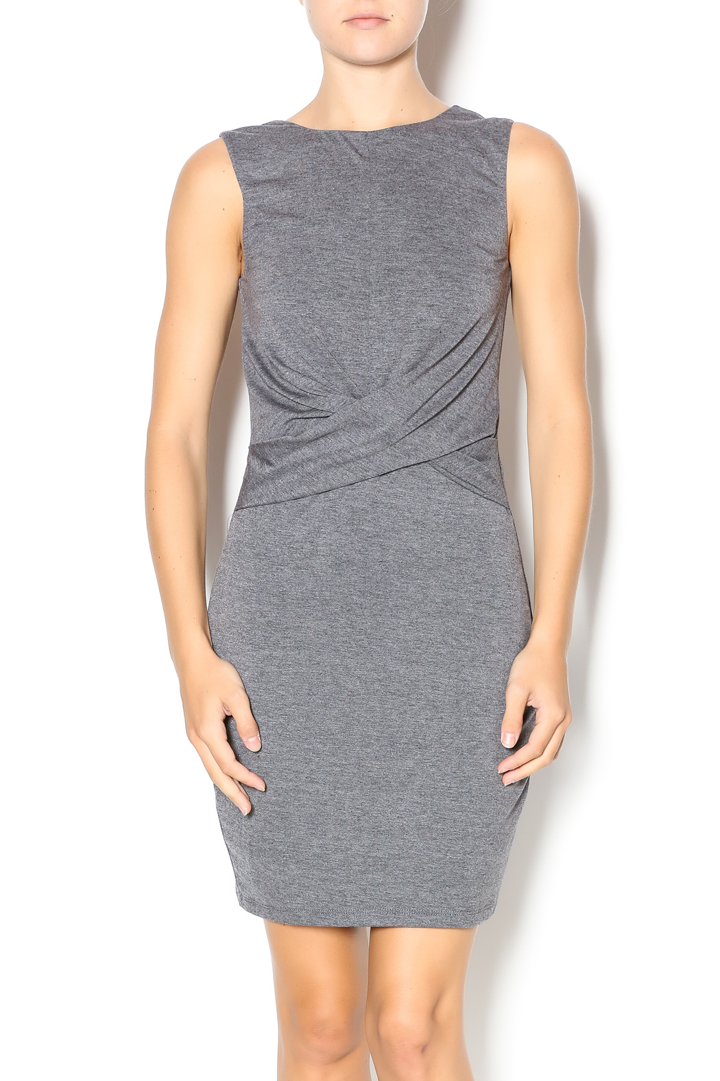 luna front twist dress from germantown by on a whim