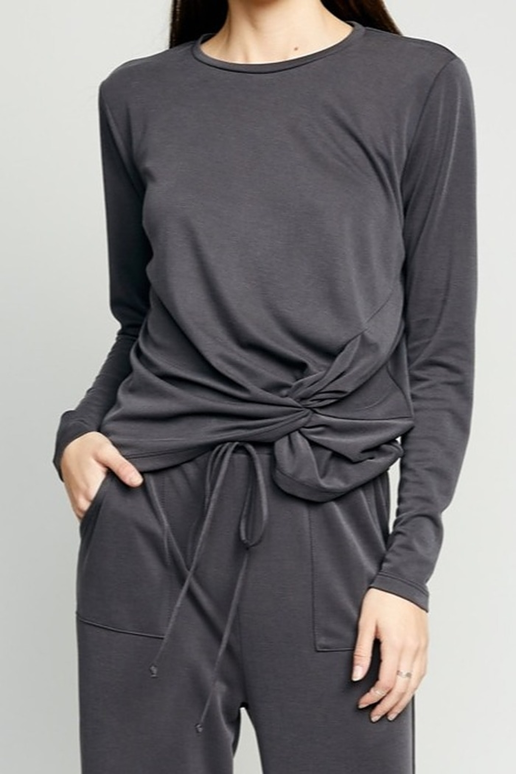The Good Jane Luna Knot Top - Front Full Image