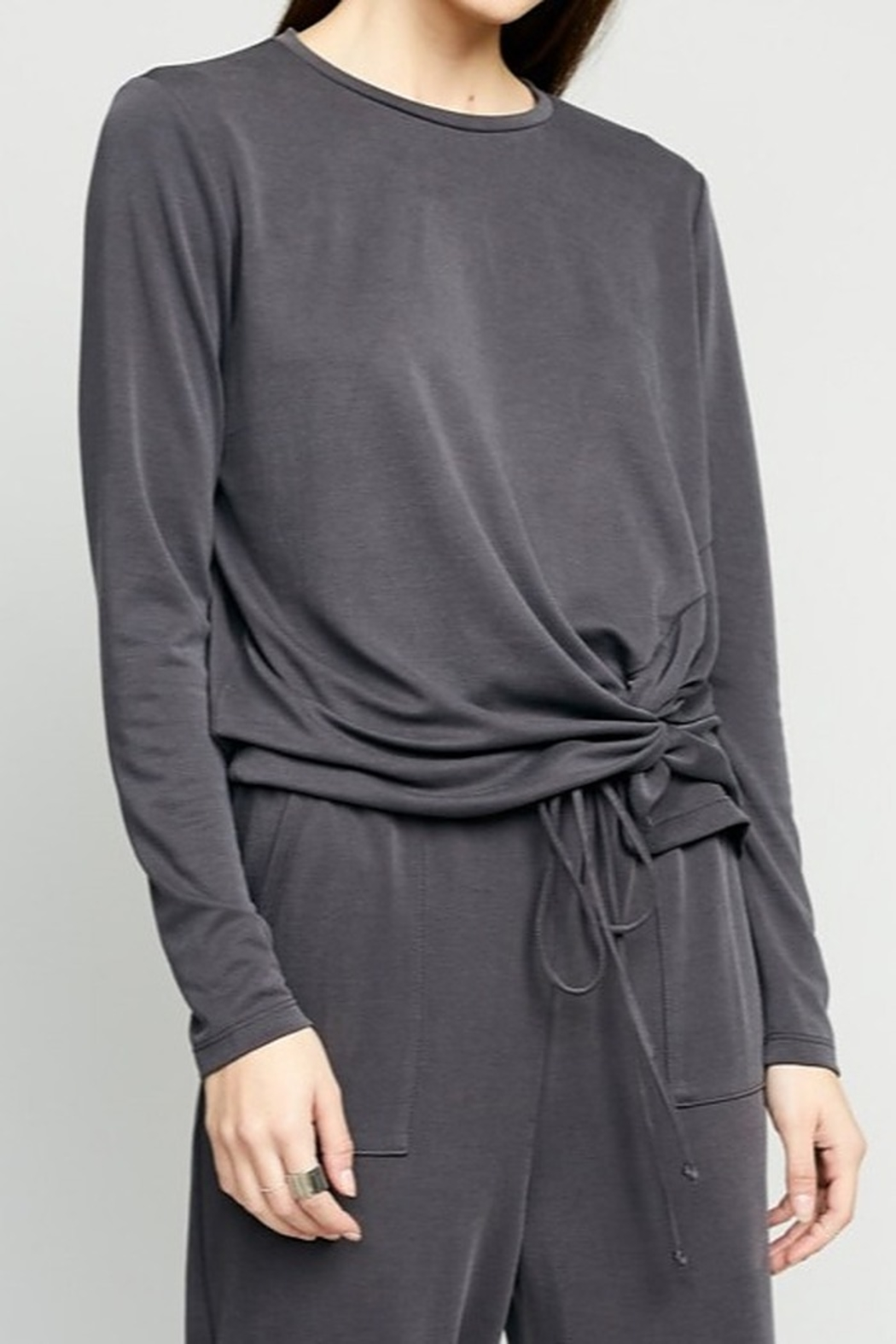 The Good Jane Luna Knot Top - Front Cropped Image