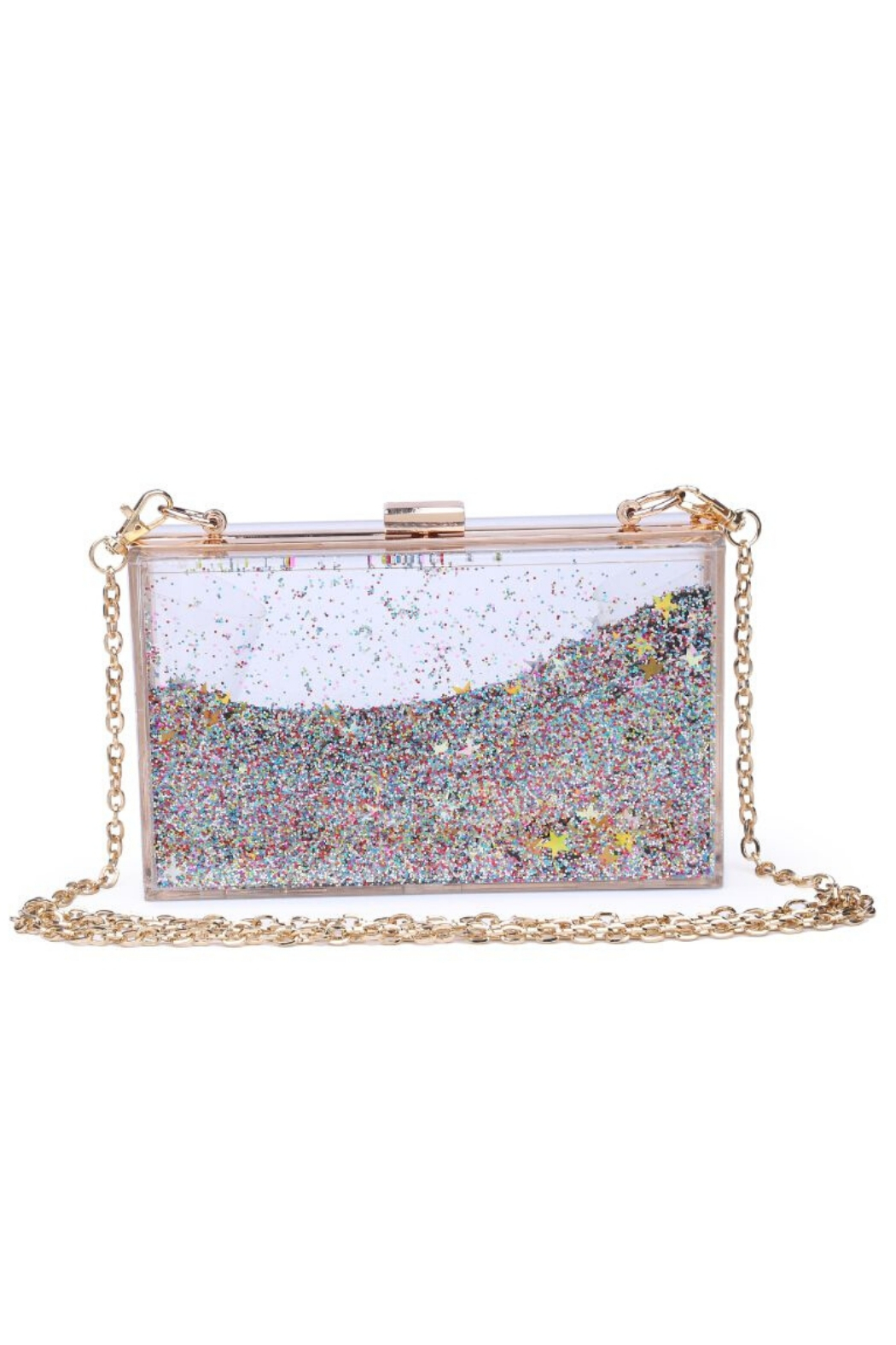Urban Expressions Luna Moving Glitter Clutch - Front Cropped Image
