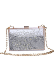 Urban Expressions Luna Moving Glitter Clutch - Front cropped