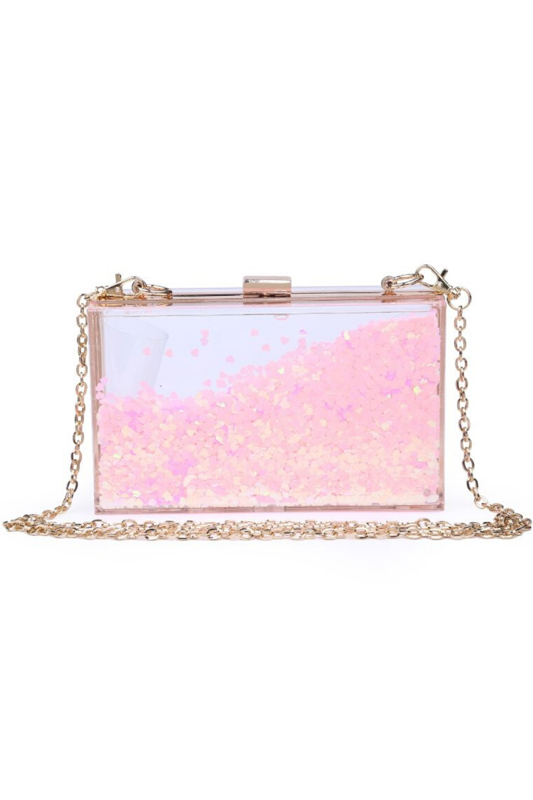 Urban Expressions Luna Moving Glitter Clutch - Main Image