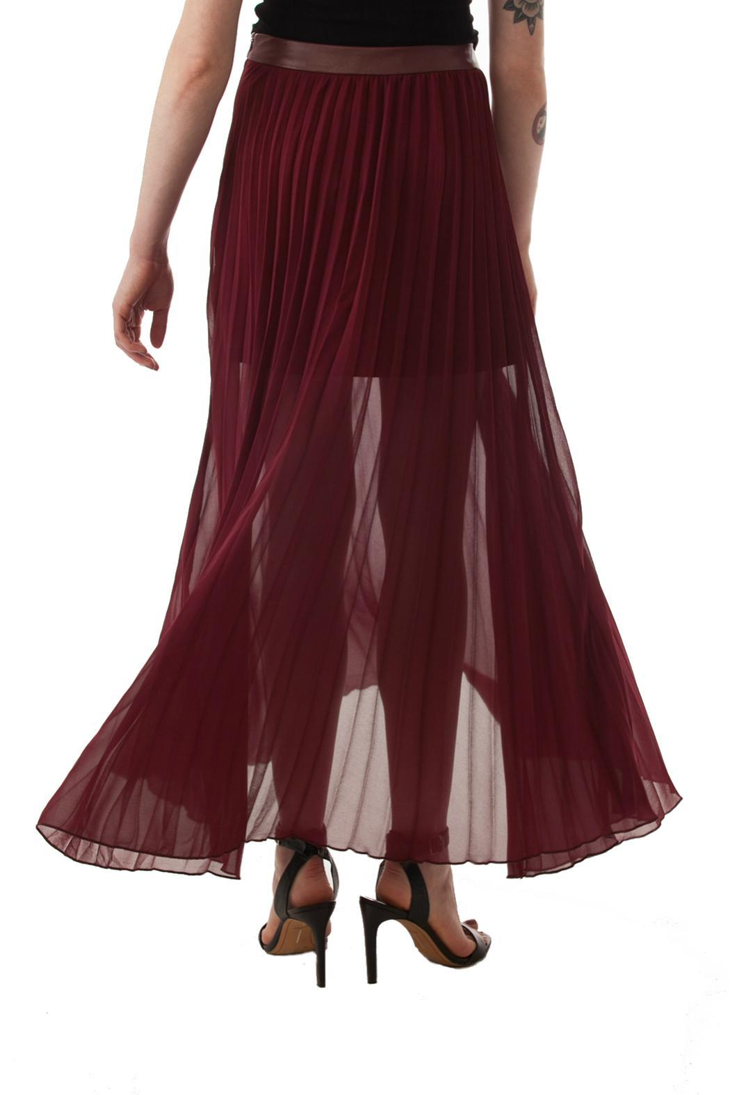 pleated maxi skirt from by feral shoptiques