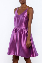 LUNA Satin Cross Back Dress - Product Mini Image