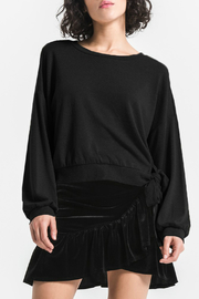 Black Swan Luna Tie Bottom Bell Sleeve Top - Product Mini Image